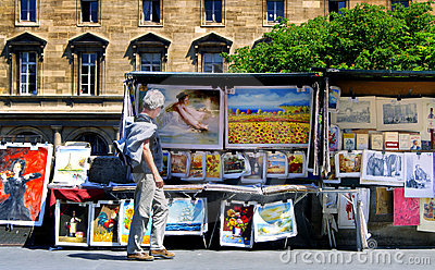 Paris. Stalls 0n the River Seine Editorial Image