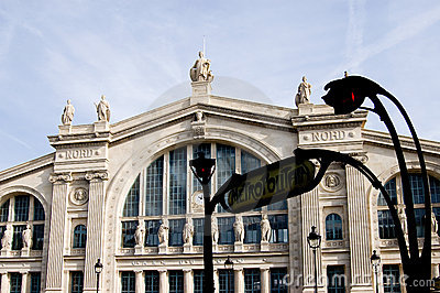Paris Station Gare du Nord Editorial Stock Image