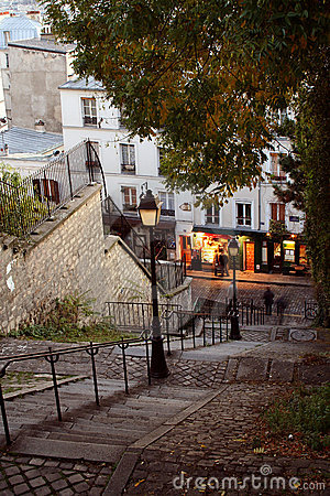 Free Paris Streets By Night - Montmartre Royalty Free Stock Photo - 1720295
