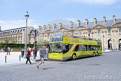 Paris tour bus Editorial Photography