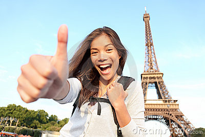 Paris tourist happy holidays