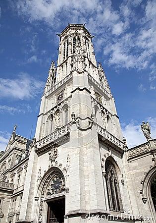 Paris - tower of Saint Germain-l Auxerrois church