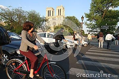 Paris Traffic Editorial Stock Photo