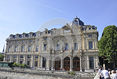 Paris,Tribunal de Commerce Editorial Stock Photo