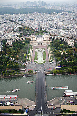 Paris- Trocadero and Defence from the Eiffel Tower