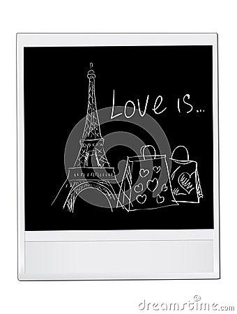 Paris vector card