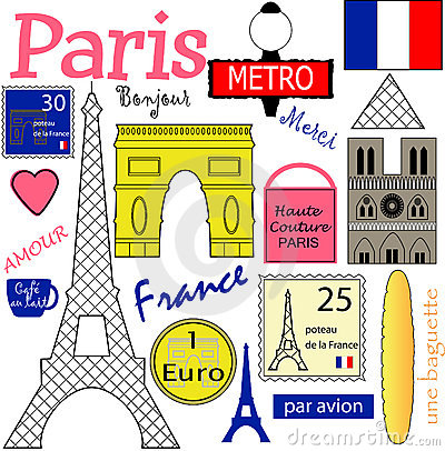 Free Paris Vector Collection Stock Photography - 12023832