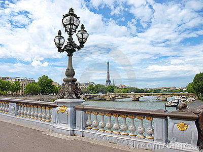 Paris view with Eiffel tower