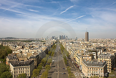 Paris view - La Defense