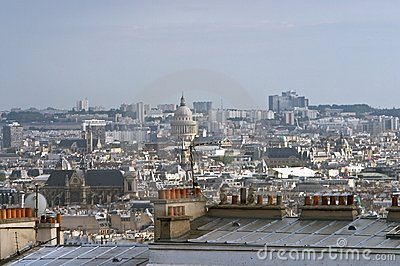 Paris, view from Motmartre hill