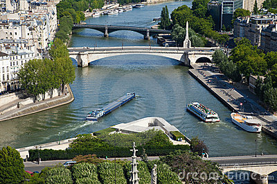 Paris, view of the Seine