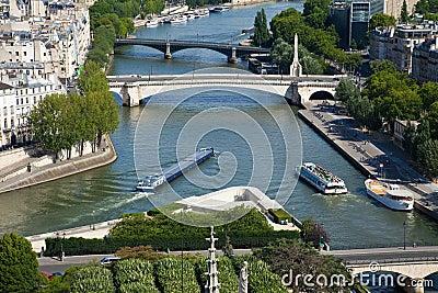 Paris, view of the Seine