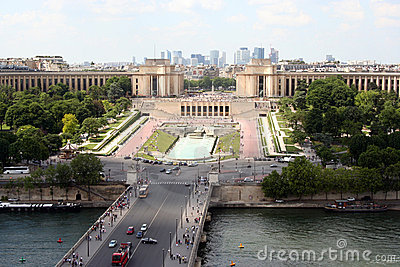 Paris, view on the Trocadero