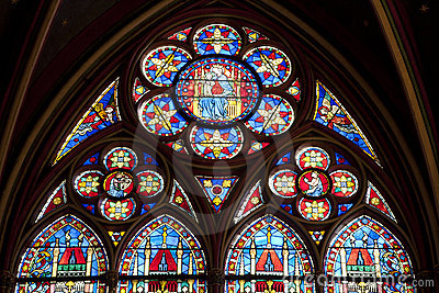 Paris - windowpane from Notre-Dame