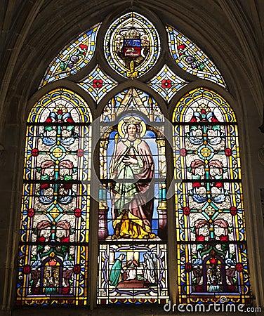 Paris - windowpane - virgin Mary