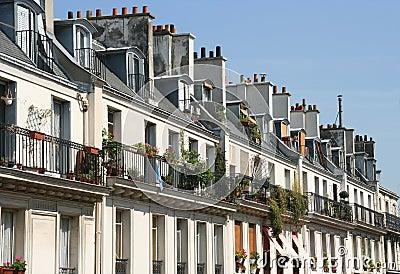 paris wohnungen lizenzfreies stockfoto bild 2408145