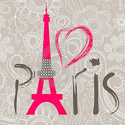 Free Paris Word Royalty Free Stock Images - 22752099