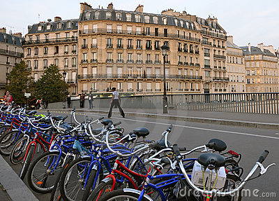 Paris zielona turystyka Obraz Stock Editorial