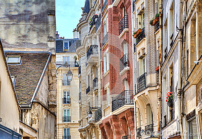 Parisian buildings.