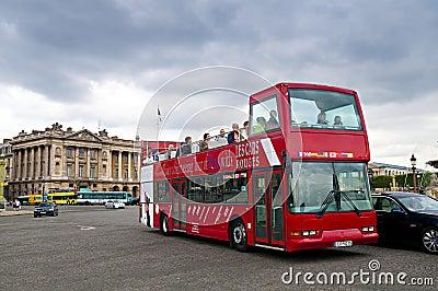 Parisian bus Editorial Photo