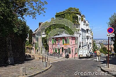 Parisian cafe Editorial Stock Image