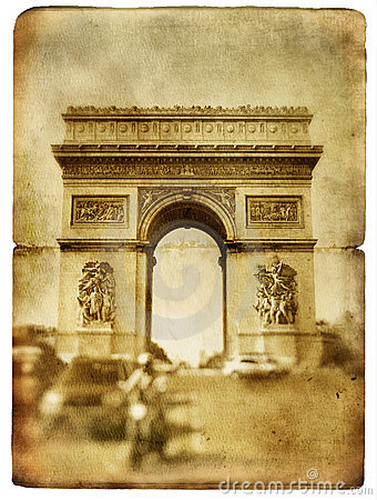 Free Parisian Cards Series Royalty Free Stock Images - 9747769