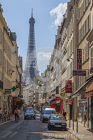 Parisian Street Editorial Stock Image