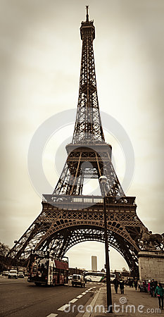 Parisian Street Scene Editorial Stock Image