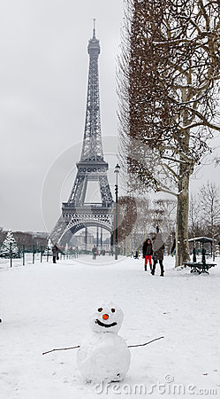 Parisian Winter Editorial Image