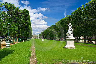 Park around Luxembourg Palace, Paris