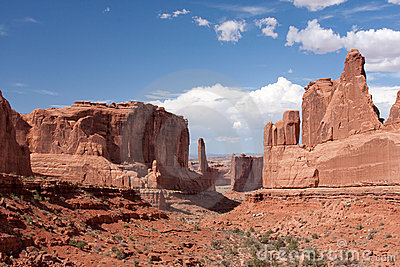 Park Avenue Viewpoint at Arches National Park