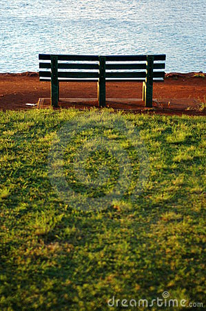 A Park Bench Beside the Ocean