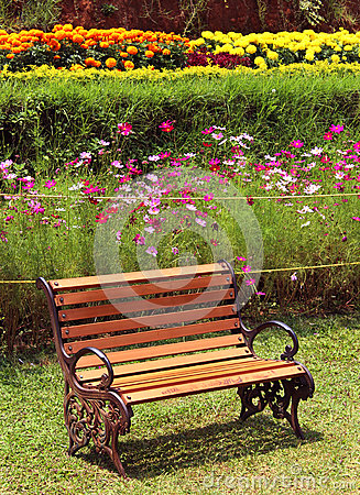Free Park Bench On Meadow Royalty Free Stock Photo - 93054145