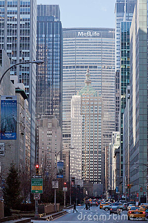 Park Central Avenue and Metlife Building New York Editorial Stock Image