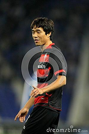 Park Chu-young del Celta de Vigo Imagen editorial