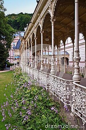 Park collonade in Karlovy Vary