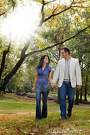 Park Couple Walk