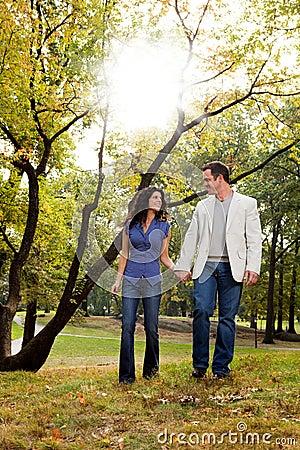 Park Couple Walk