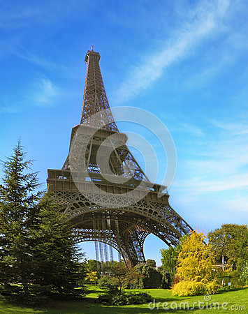 Park at the Eiffel Tower Editorial Stock Image