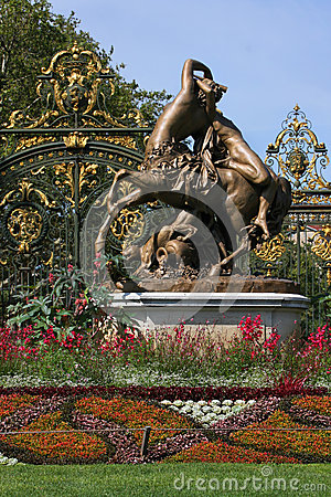 Park entrance in Lyon