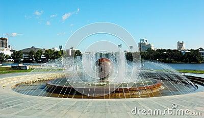 Park, fountain