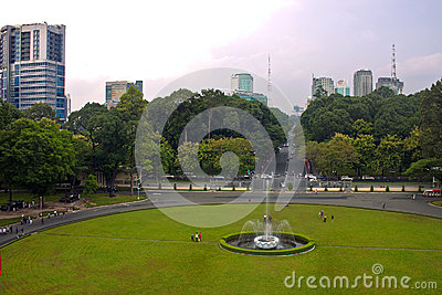 Park in front of Reunification Palace