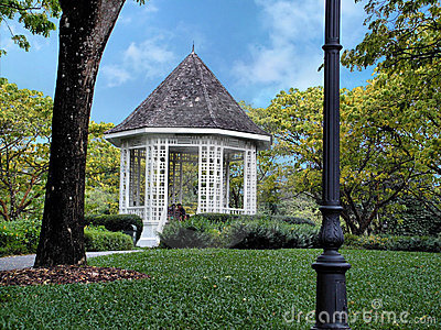 Park garden pavilion