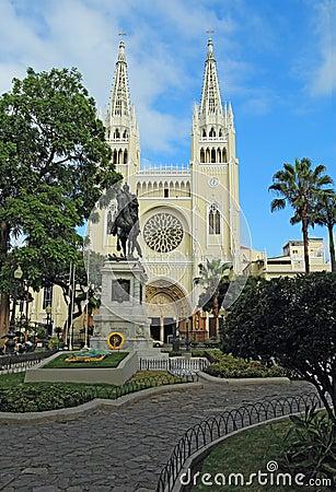 A park in Guayaqui, Ecuador