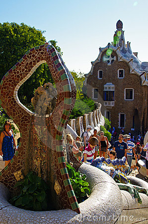 Park guell Editorial Stock Photo
