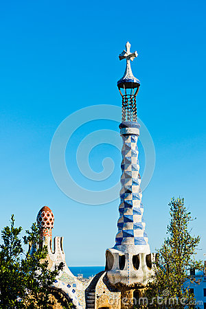 Park Guell by Antonio Gaudi in Barcelona
