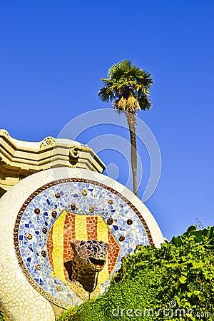 Free Park Guell. Barcelona, Catalonia, Spain. Royalty Free Stock Photo - 50902705