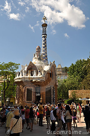 Park Guell in Barcelona Spain Editorial Photo