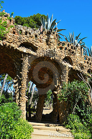 Park Guell, Barcelona, Spain Editorial Stock Image