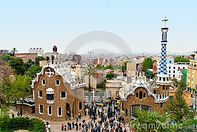 Park Guell, Barcelona - Spain Editorial Photography